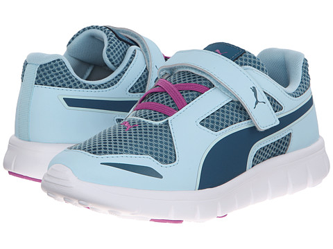 Puma Kids - Puma Blur V (Toddler/Little Kid/Big Kid) (Clearwater Blue/Coral/White) Kids Shoes