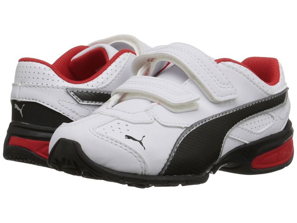 Puma Kids - Tazon 6 SL (Toddler/Little Kid/Big Kid) (White/Black/High Risk Red) Boys Shoes