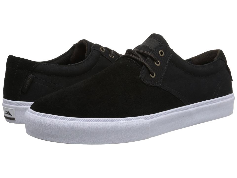 Lakai - M.J. (Black/White Suede) Men's Skate Shoes