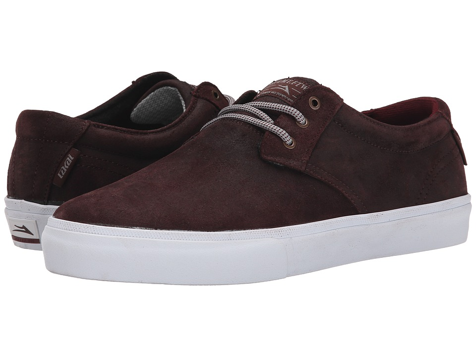 Lakai - MJ Weather Treated (Mahogany Oiled Suede) Men's Skate Shoes