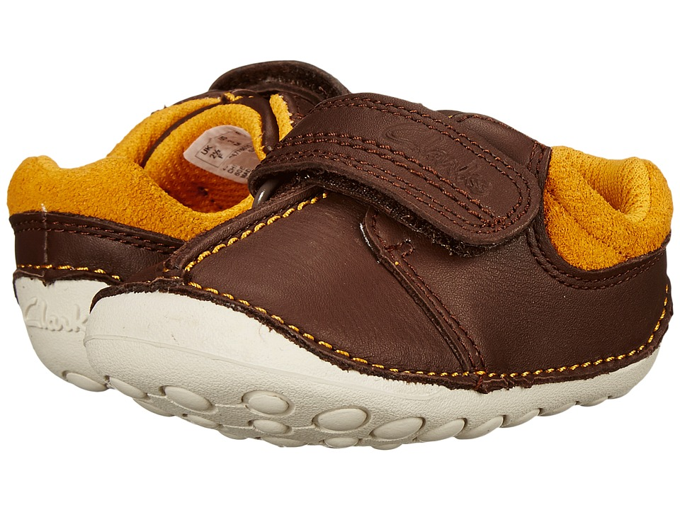 Clarks Kids - Tiny Joe (Infant/Toddler) (Brown) Boy's Shoes