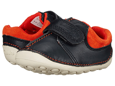 Clarks Kids - Tiny Joe (Infant/Toddler) (Navy) Boy's Shoes