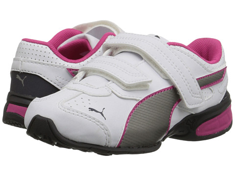 Puma Kids - Tazon 6 SL (Toddler/Little Kid/Big Kid) (White/Periscope/Beetroot Purple) Girls Shoes