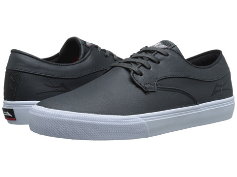 Lakai - Riley Hawk (Gargoyle Coated Canvas) Men's Skate Shoes
