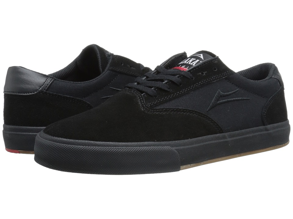 Lakai - GuyMar (Black/Black Suede) Men's Skate Shoes
