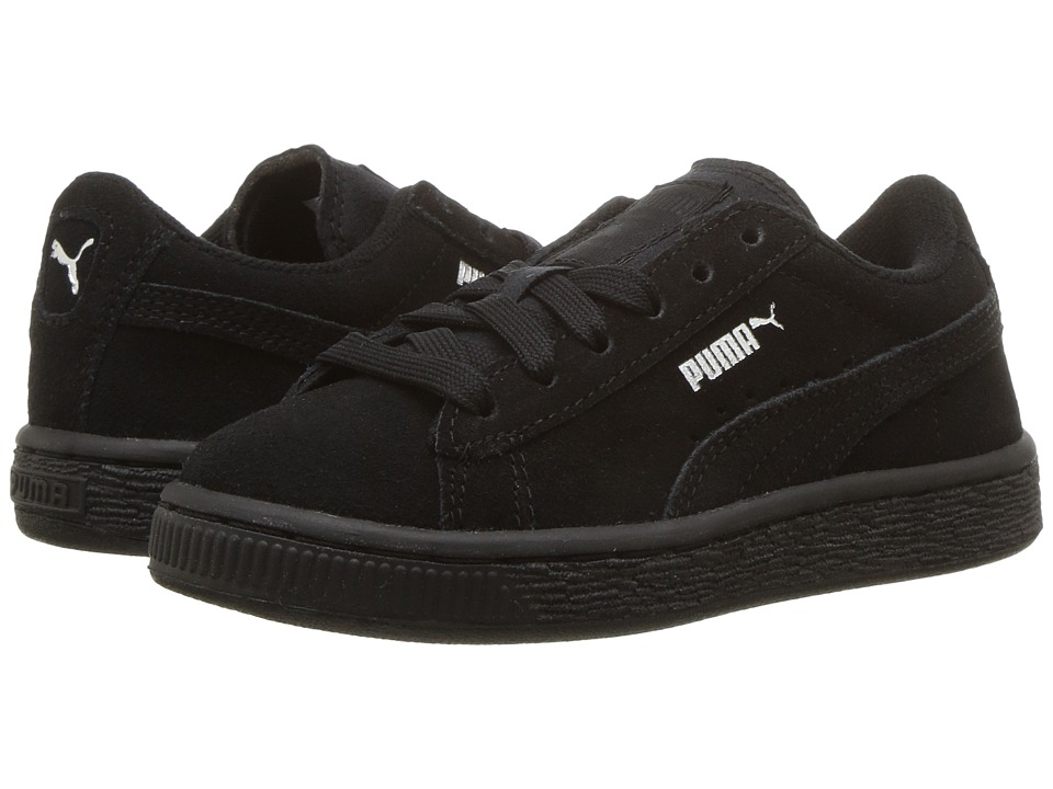 Puma Kids Puma Suede (Toddler/Little Kid/Big Kid) (Black/Puma Silver) Boys Shoes