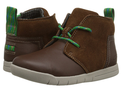 Clarks Kids - Crazy Peck (Toddler) (Brown) Boy's Shoes
