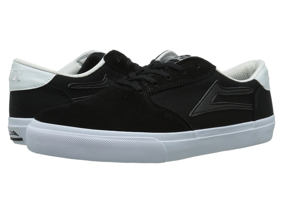 Lakai - Pico (Black/White Suede) Men's Skate Shoes