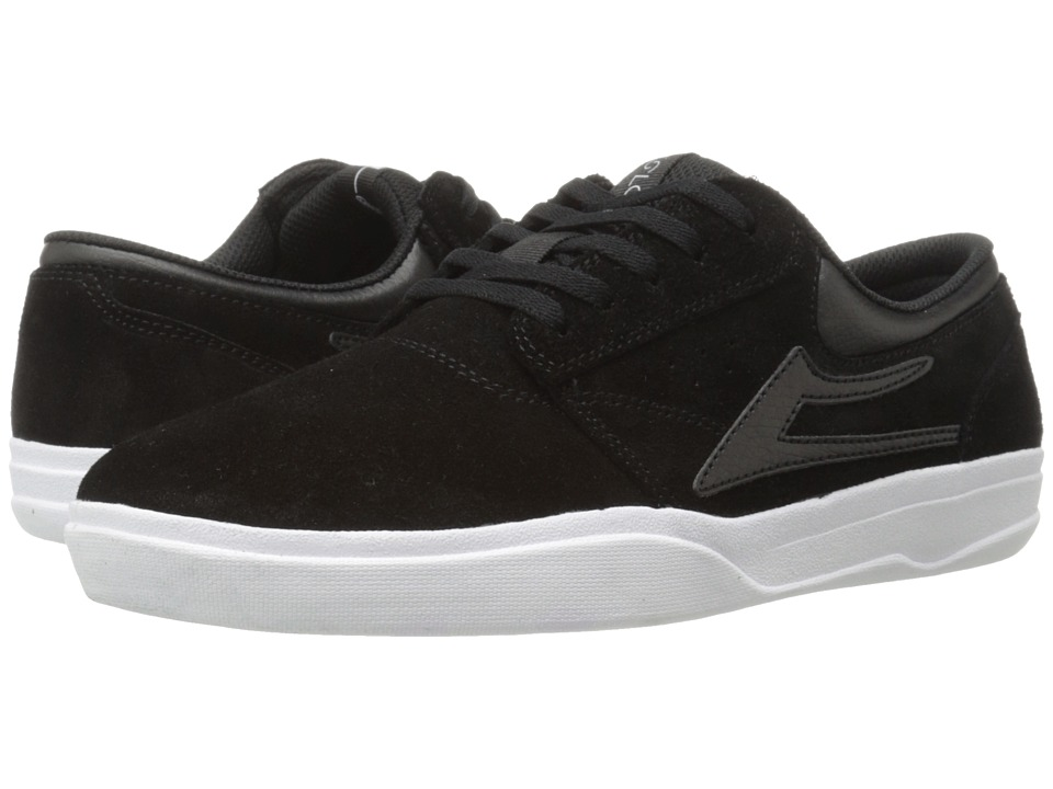 Lakai - Griffin XLK (Black/White Suede) Men's Skate Shoes