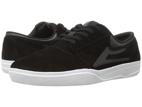 Lakai - Griffin XLK (Black/White Suede) Men's Skate Shoes