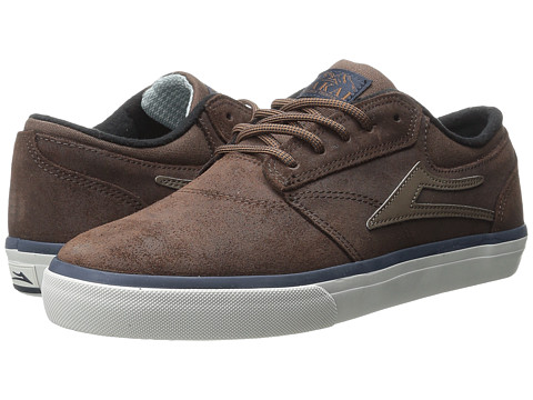 Lakai - Griffin Weather Treated (Brown Oiled Suede) Men's Skate Shoes