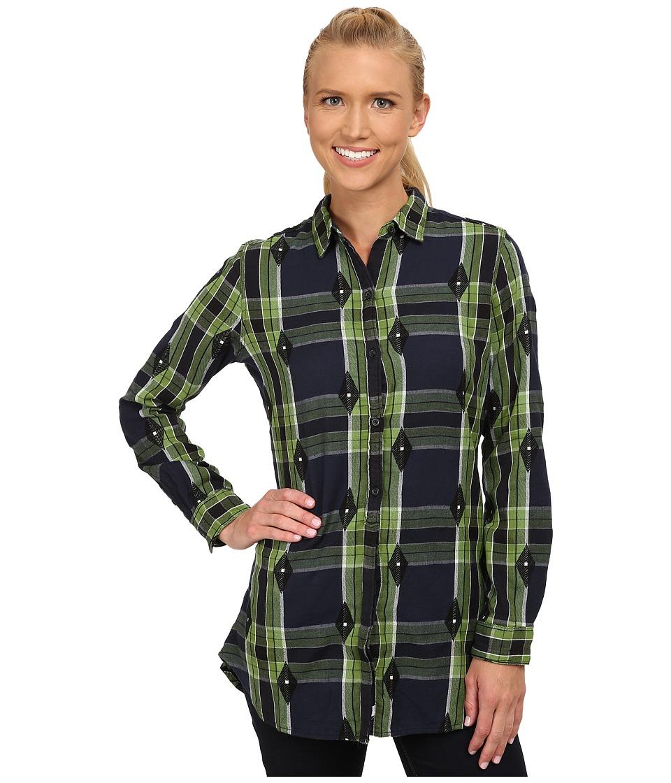 Woolrich - First Light Jacquard Shirt (Navy) Women
