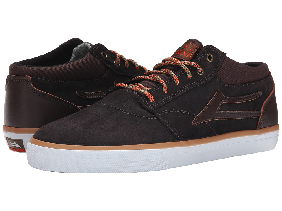 Lakai - Griffin Mid Weather Treated (Coffee Oiled Suede) Men's Skate Shoes