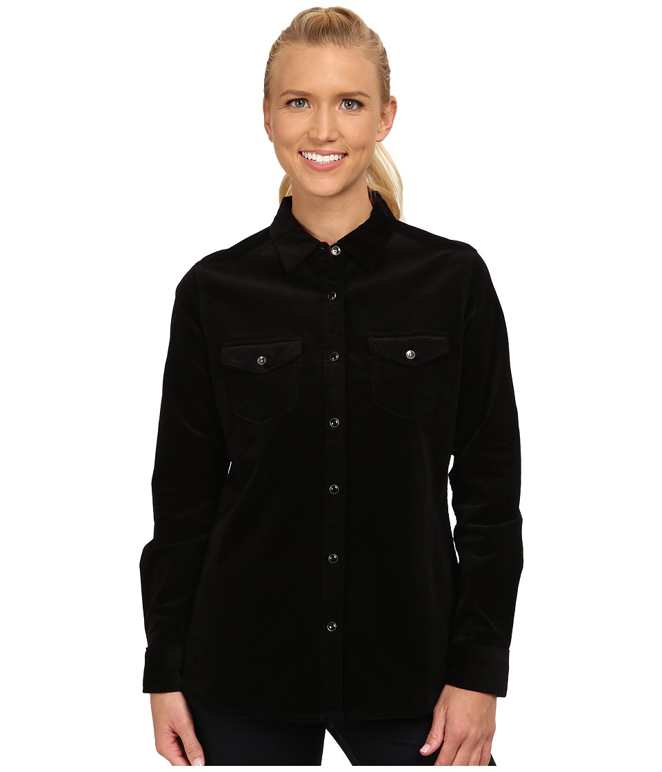 Woolrich - Pendulum Cord Shirt II (Black) Women's Long Sleeve Button Up