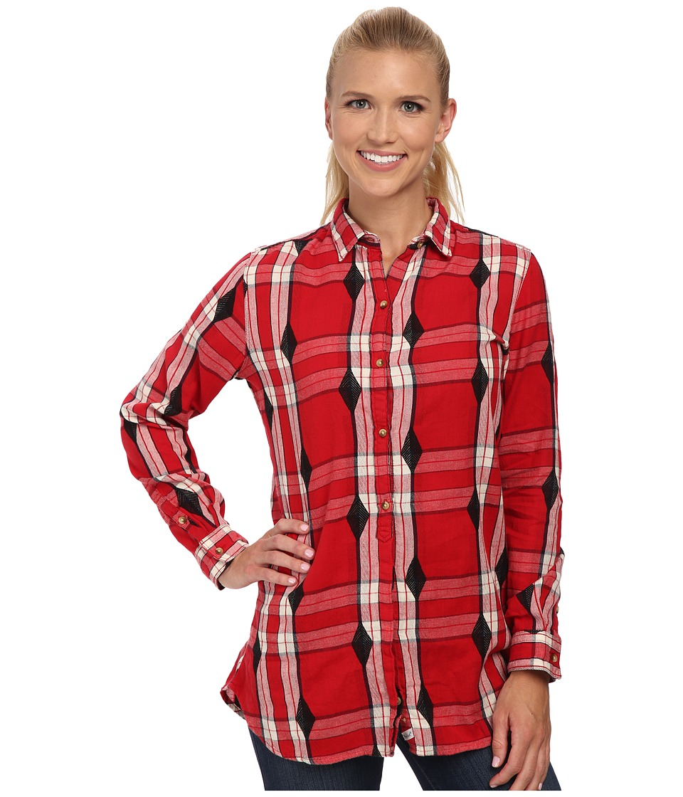 Woolrich - First Light Jacquard Shirt (Old Red) Women's Long Sleeve Button Up