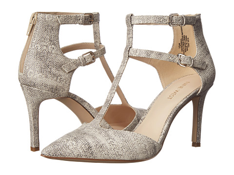Nine West - Scandal (White Smoke Synthetic Ring Lizard PU) High Heels
