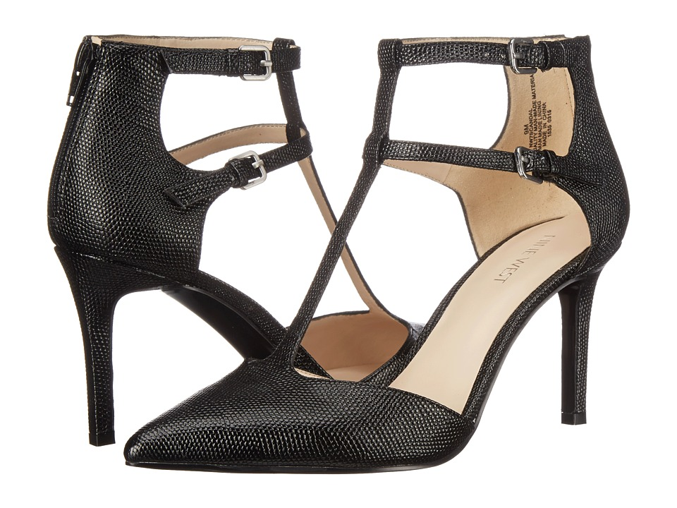 Nine West - Scandal (Black Synthetic Ring Lizard PU) High Heels