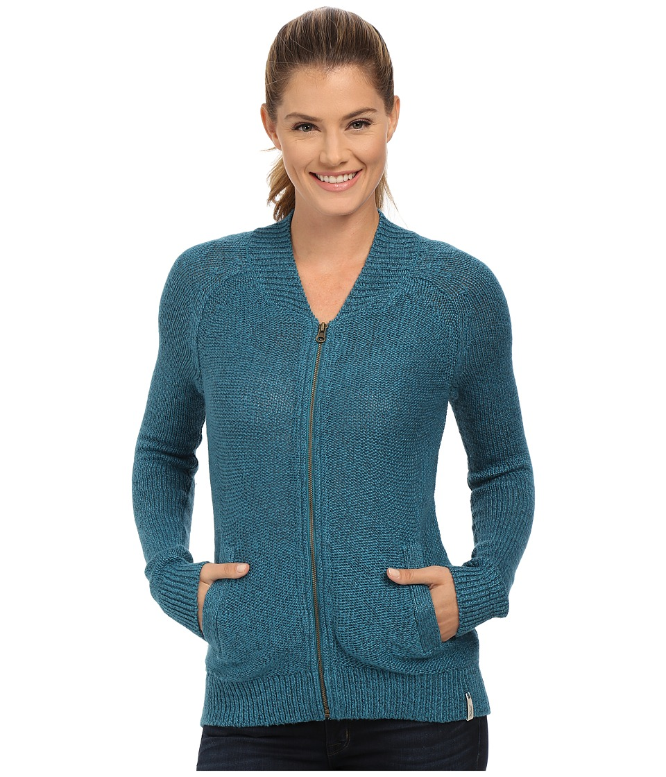Woolrich - Alpine Ascent Bomber (Mineral Blue) Women's Sweater