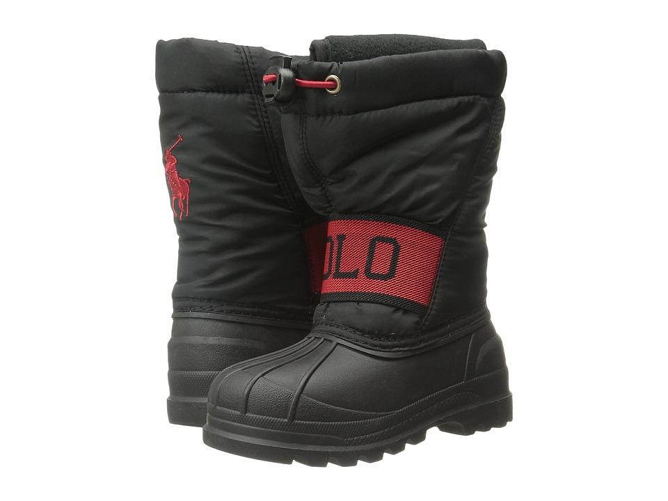 Polo Ralph Lauren Kids - Jakson (Toddler) (Black Nylon/Red) Boy's Shoes