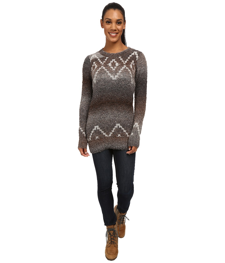 Woolrich - Roundtrip Fair Isle Crew (Charcoal Space Dye) Women's Clothing