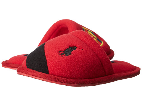 Polo Ralph Lauren Kids - Rugby Crest Scuff (Toddler) (Red Fleece/Black) Boy's Shoes