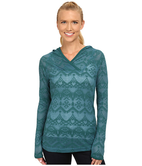 Woolrich - Ricketts Glen Burnout Hoodie (Mineral Blue) Women's Sweatshirt