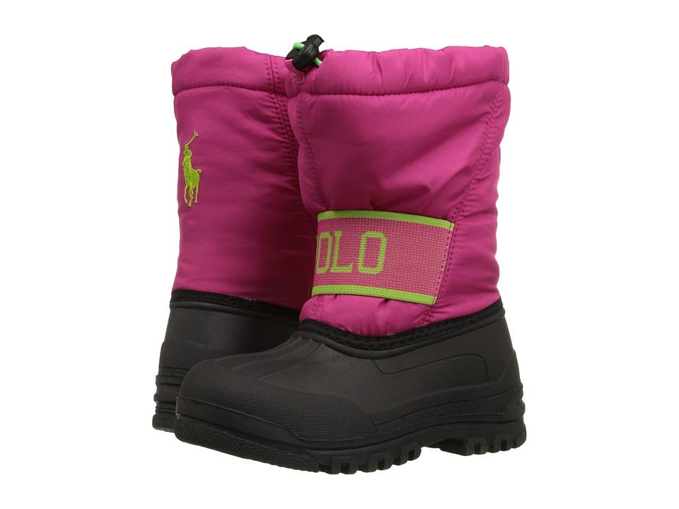 Polo Ralph Lauren Kids - Jakson (Toddler) (Active Pink Nylon/Lime) Kid's Shoes