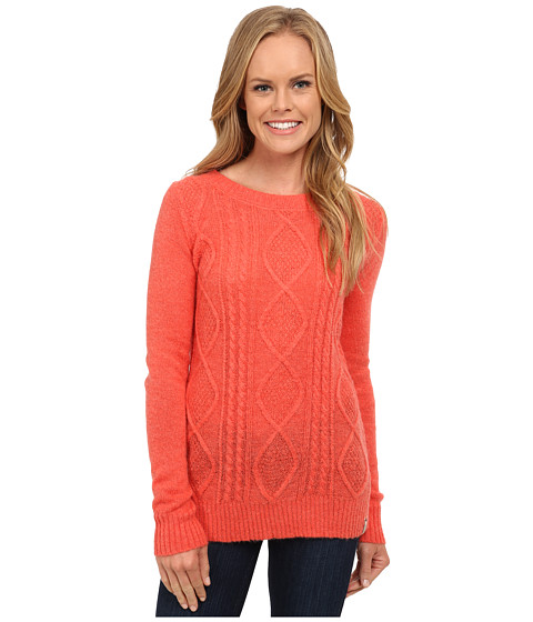 Woolrich - Cable Mohair Sweater (Hot Guava) Women's Sweater