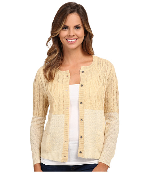 Woolrich - Two-Tone Cable Mohair Cardigan (Pebble) Women's Sweater