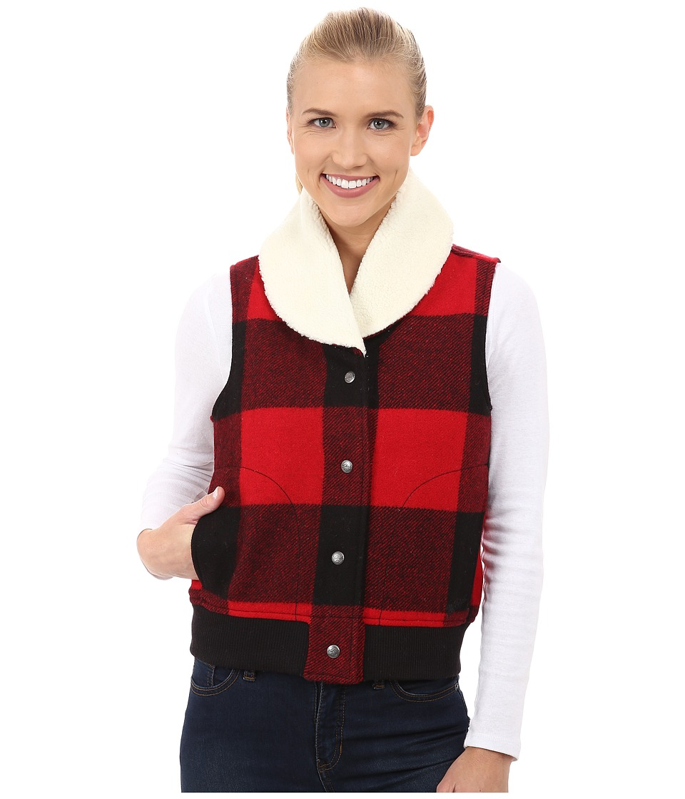 Woolrich - Giant Buffalo Wool Vest (Old Red) Women's Vest