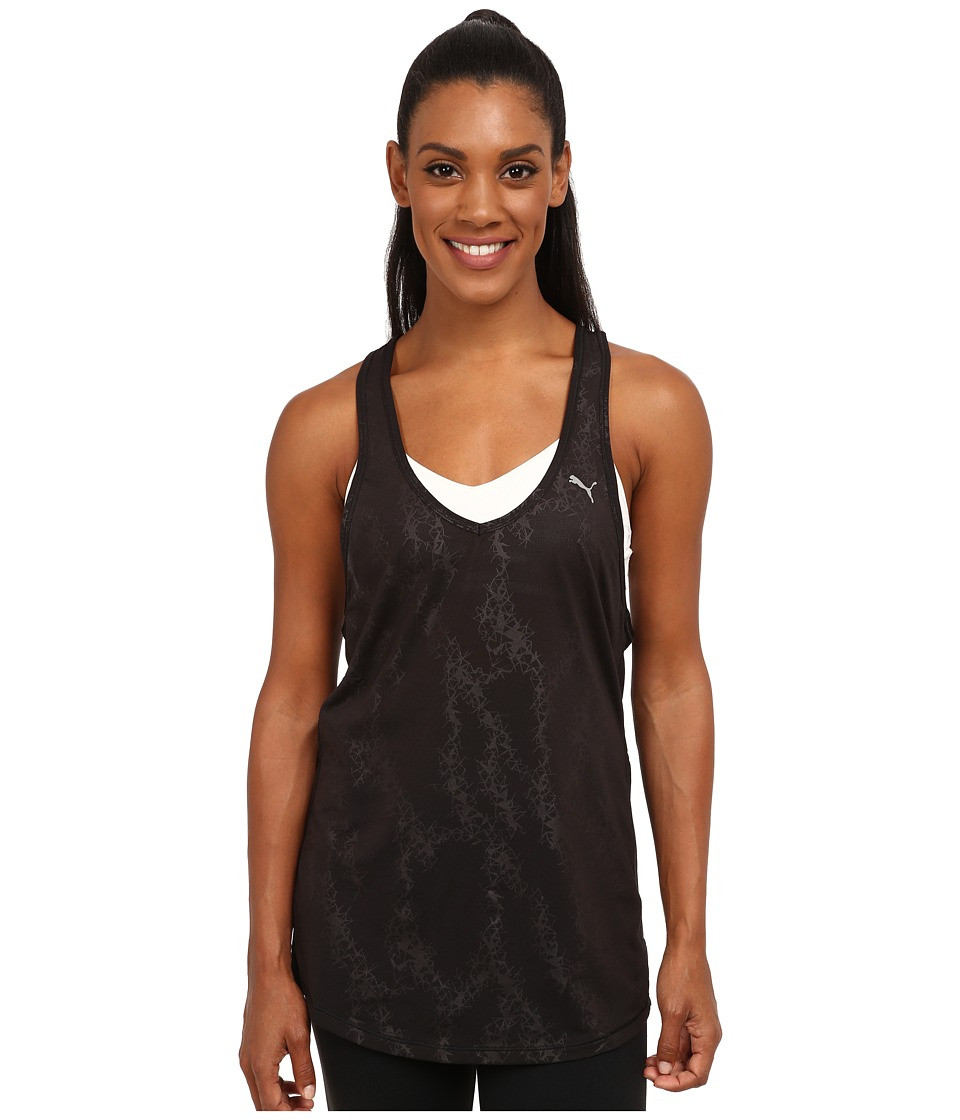 PUMA - WT Mesh It Up Layer Tank Top (Black) Women's Sleeveless