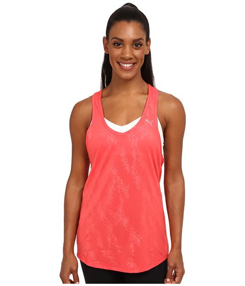PUMA - WT Mesh It Up Layer Tank Top (Cayenne) Women's Sleeveless