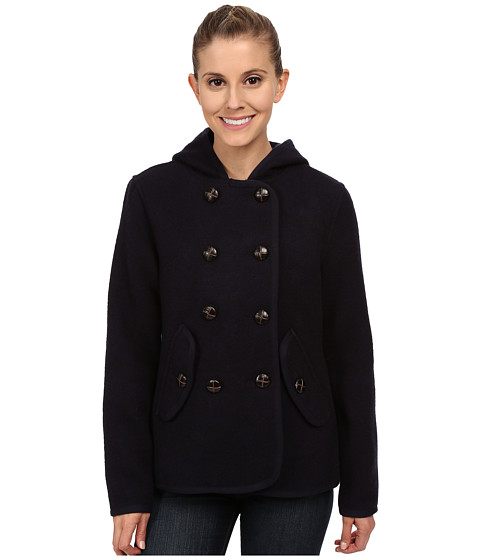 Woolrich - Century Wool Peacoat (Navy) Women's Coat