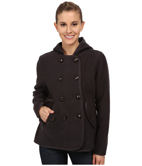 Woolrich - Century Wool Peacoat (Coal) Women