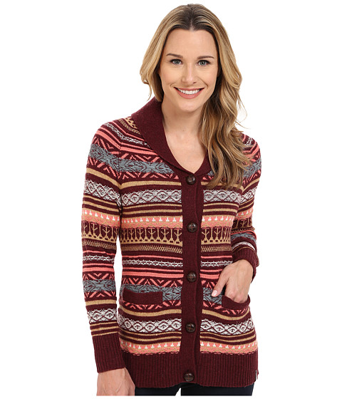Woolrich - Blazing Star Fair Isle Cardigan (Fig Multi) Women's Sweater