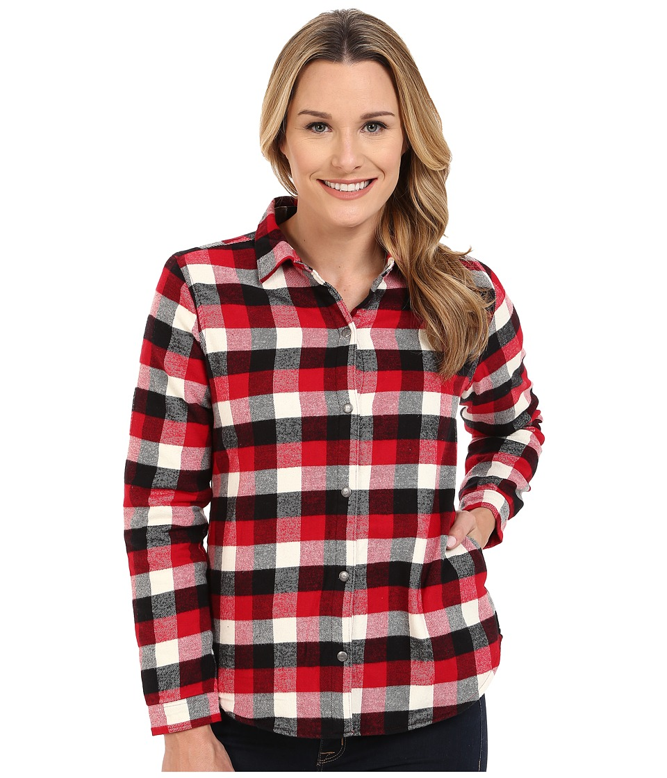 Woolrich - Pemberton Fleece-lined Flannel Shirt Jacket (Old Red Buffalo) Women's Long Sleeve Button Up