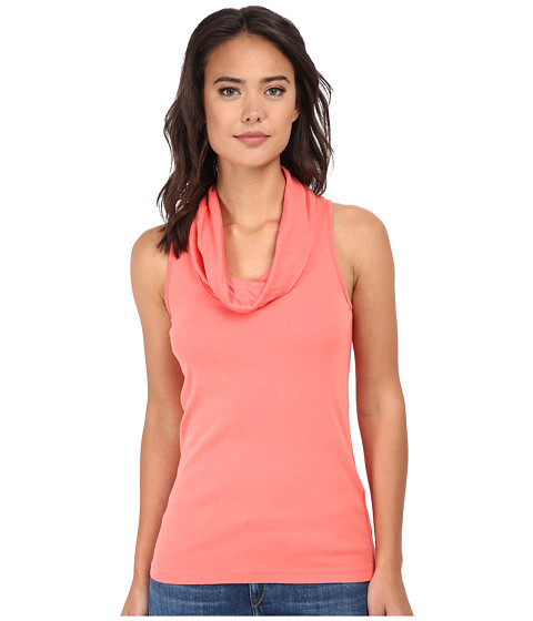 Three Dots - Cotton Knits Sleeveless Rolled Cowl Neck (Grapefruit) Women