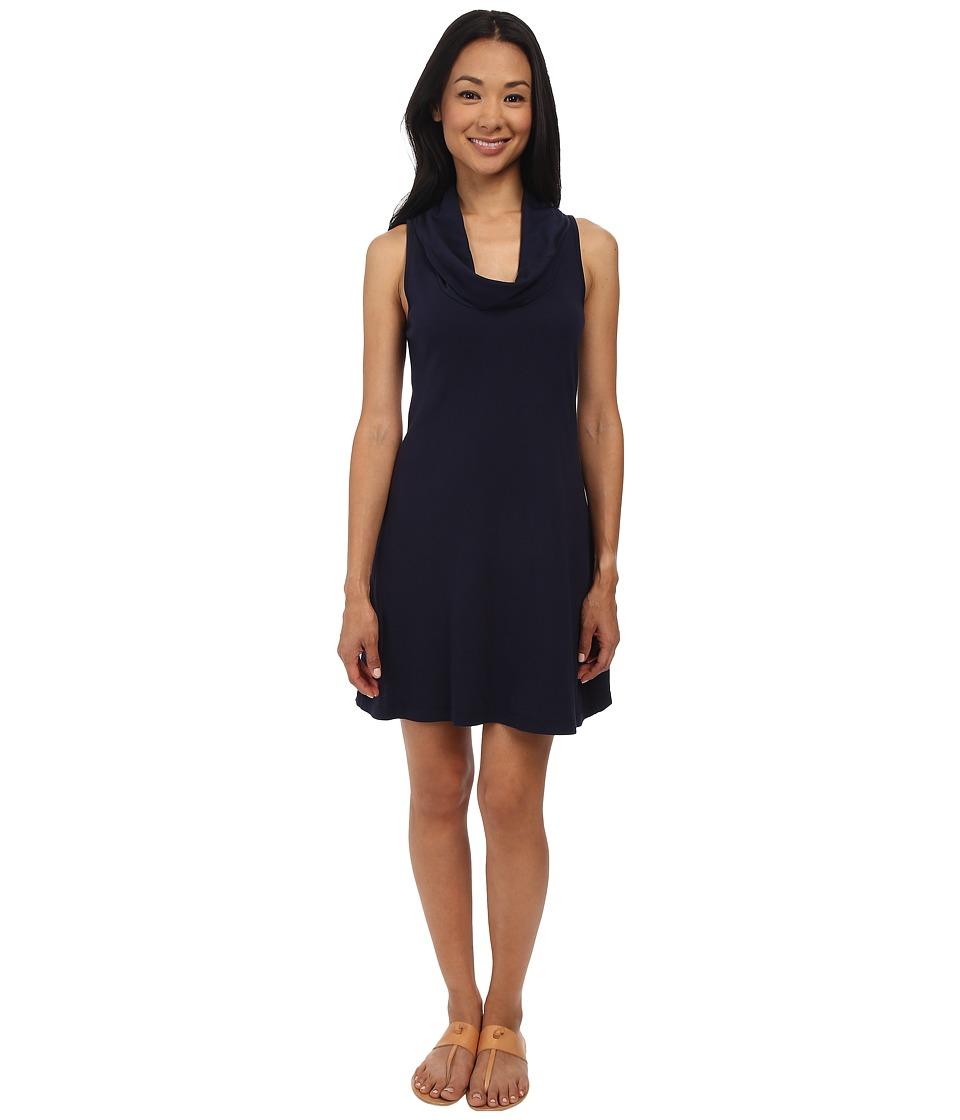 Three Dots - Cowl Neck Tank Dress (Night Iris) Women's Dress