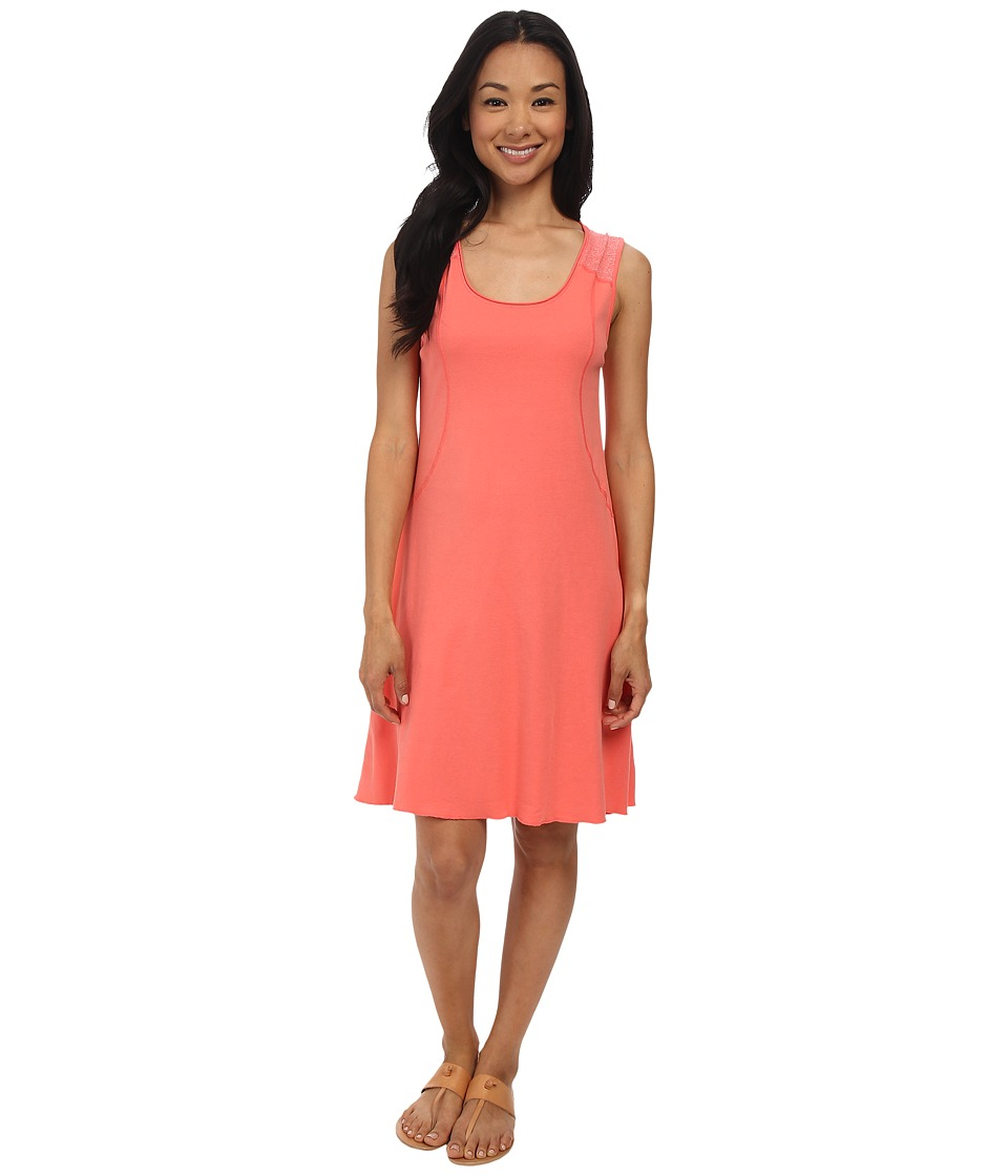 Three Dots Sleeveless Seamed Dress (Grapefruit) Women's Dress