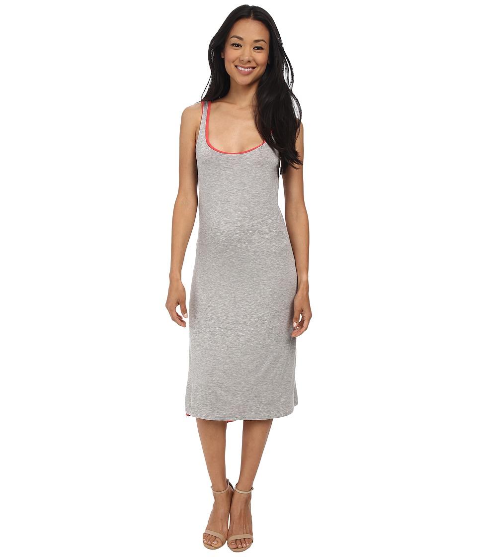 Three Dots Reversible Asymmetrical Dress (Granite/Grapefruit) Women