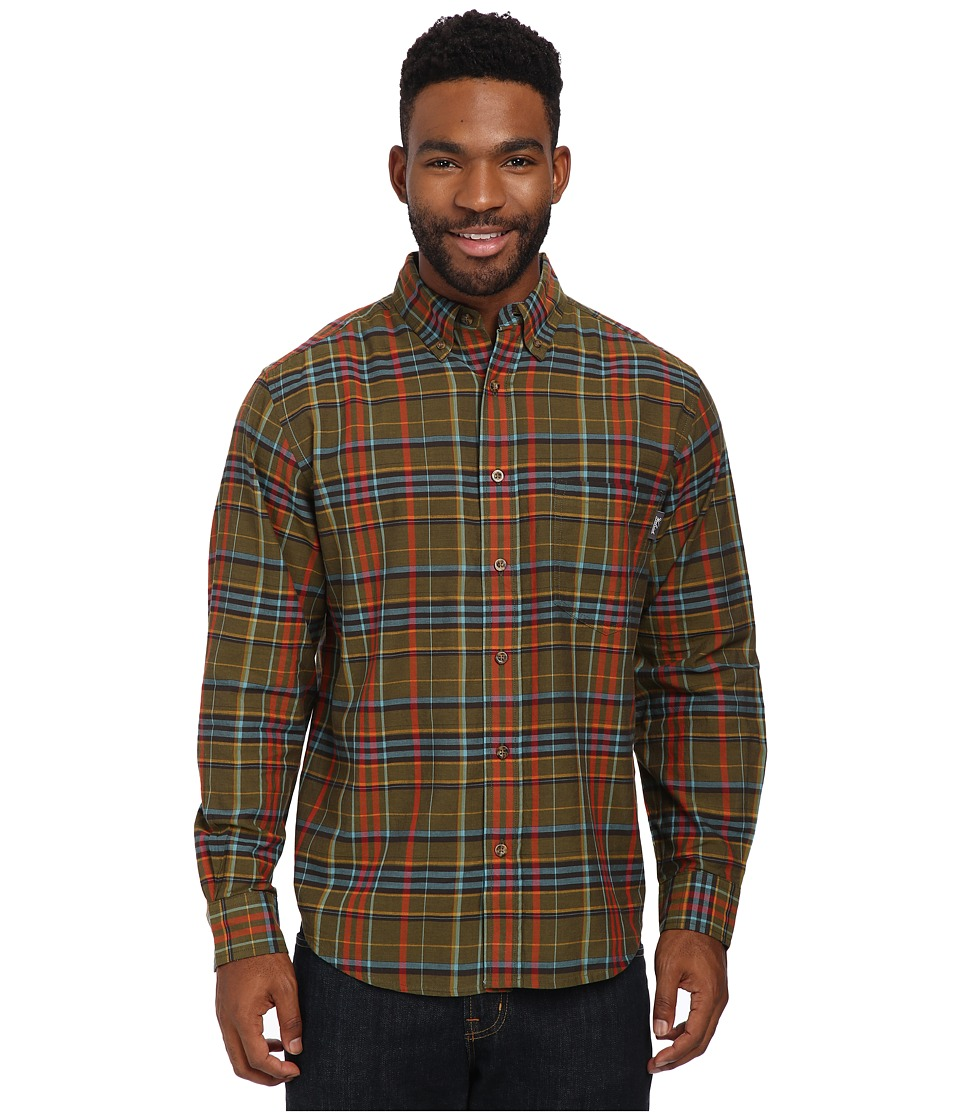 Woolrich - Timberline Long Sleeve Shirt (Dark Walnut) Men's Long Sleeve Button Up