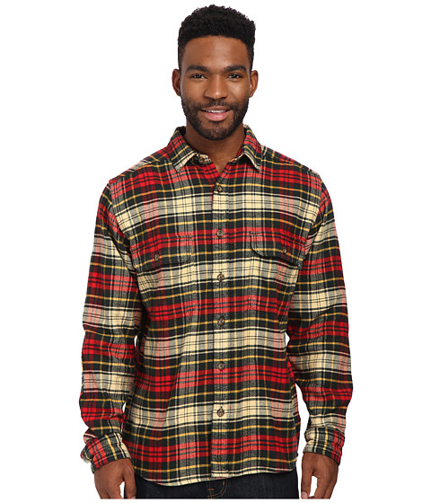 Woolrich - Oxbow Bend Flannel Shirt (Black Forest Pine) Men