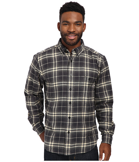 Woolrich - Trout Run Flannel Shirt (Coal) Men's Long Sleeve Button Up