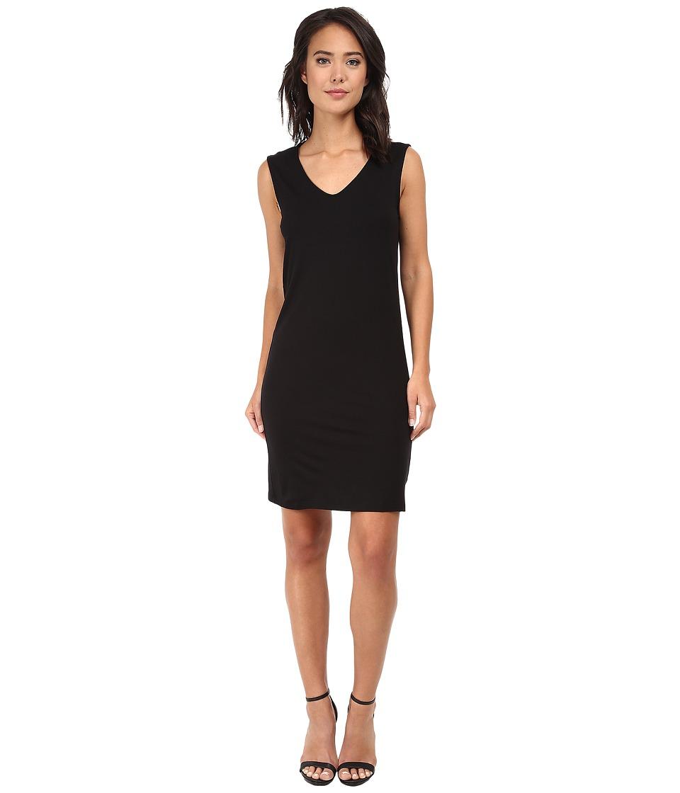 Three Dots - Cowl Back Dress (Black) Women's Dress