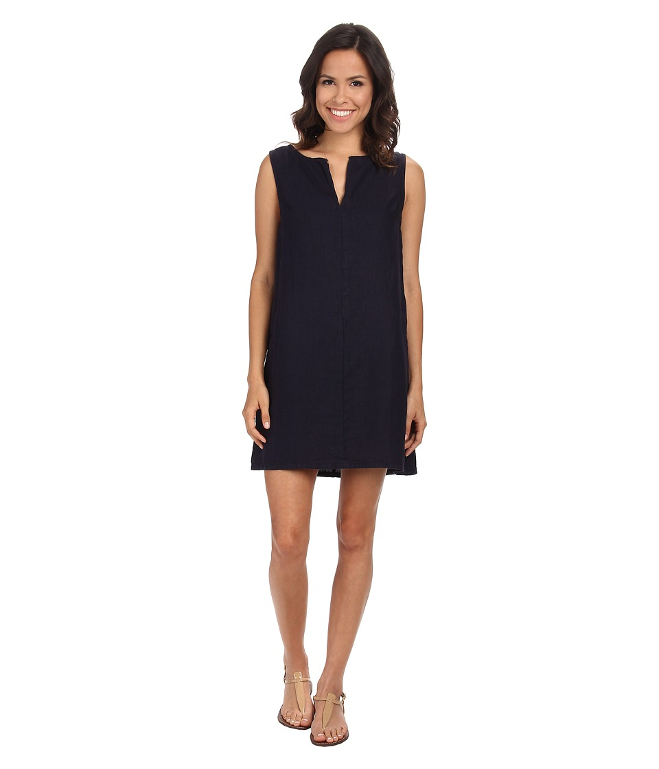Three Dots Sleeveless Dress w/ Faux Pocket (Night Iris) Women