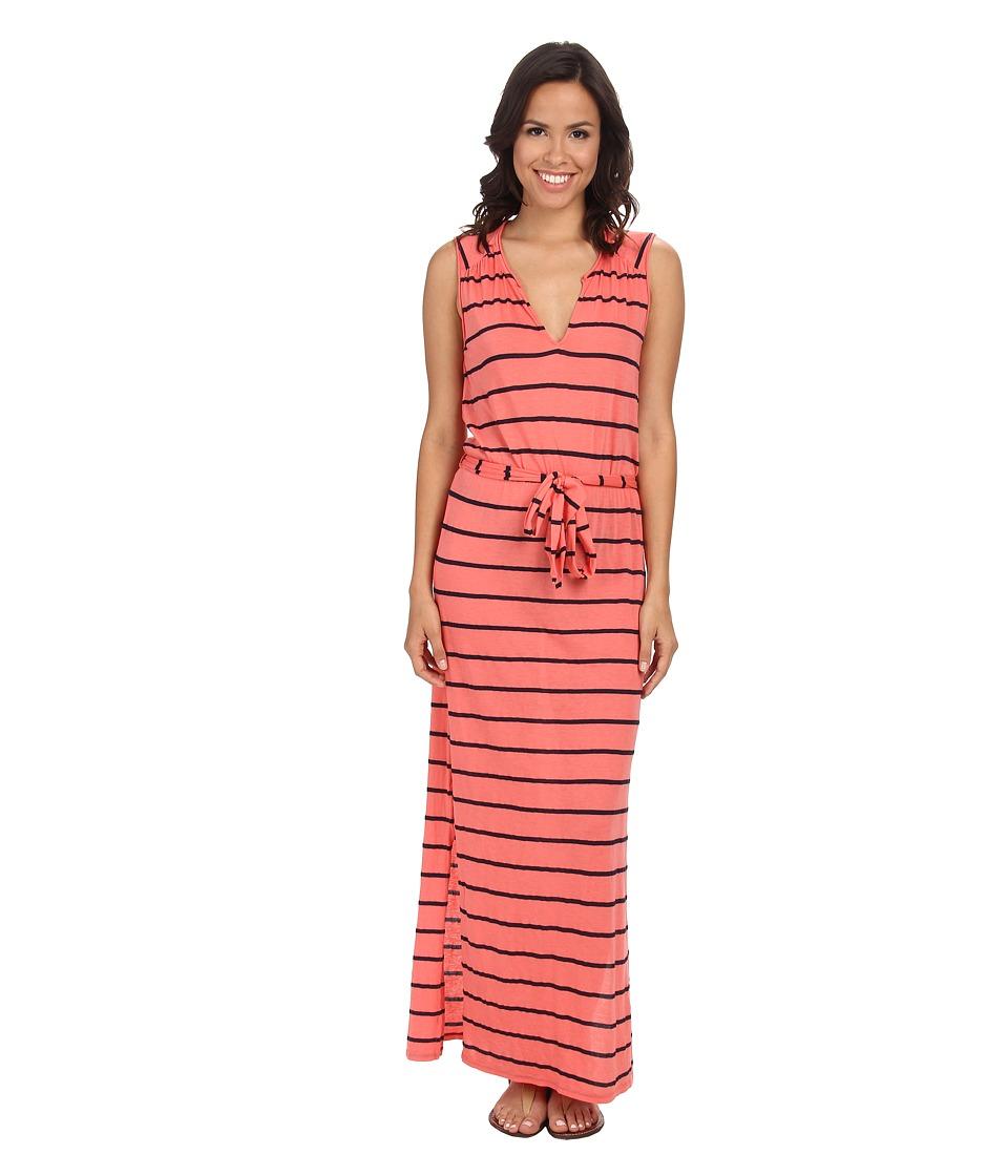 Three Dots Belted Maxi Dress (Grapefruit) Women