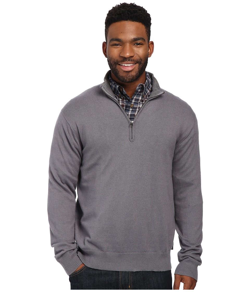 Woolrich - Highlands Half Zip Sweater (Dark Ash) Men