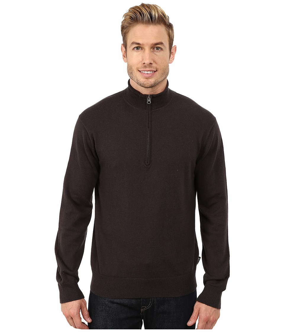 Woolrich - Highlands Half Zip Sweater (Coal) Men's Sweater