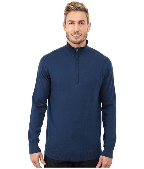 Woolrich - Highlands Half Zip Sweater (Atlantic) Men's Sweater