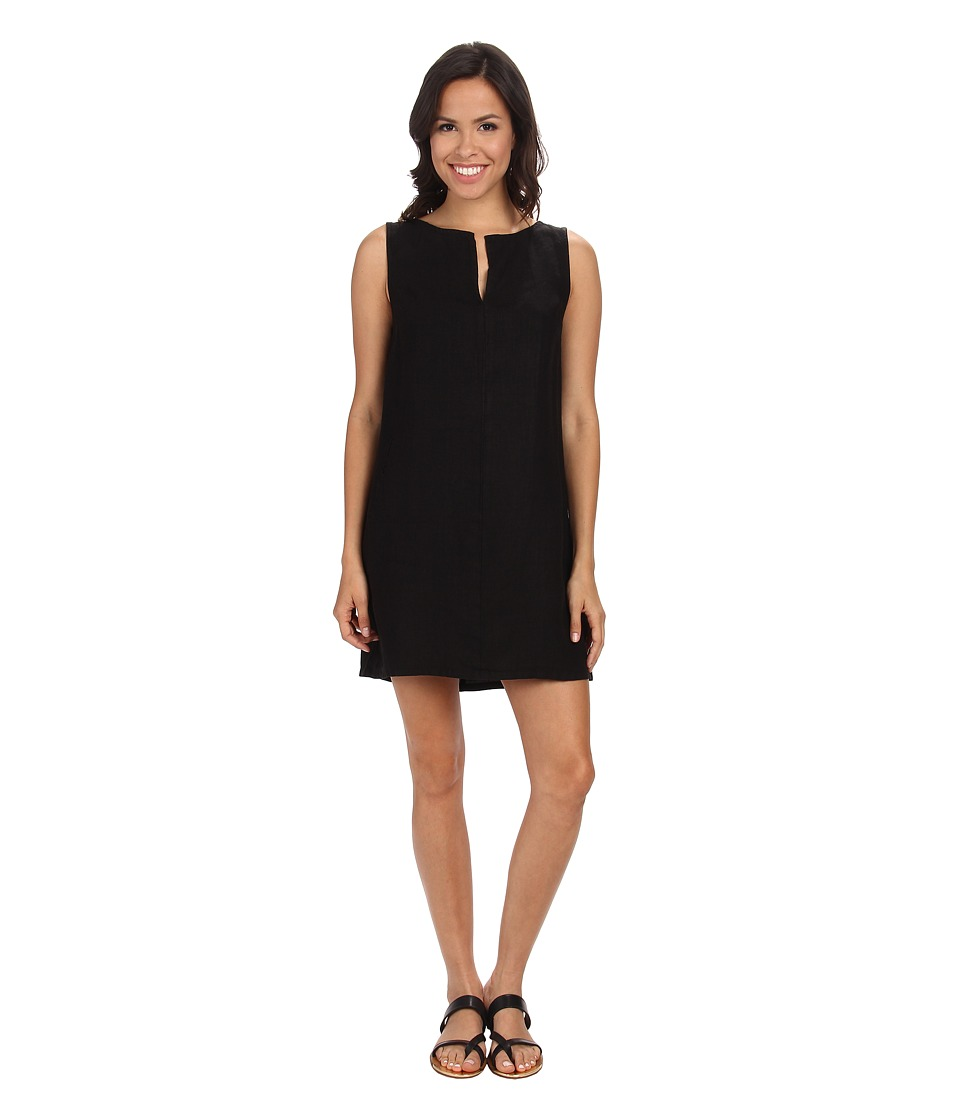 Three Dots - Sleeveless Dress w/ Faux Pocket (Black) Women's Dress
